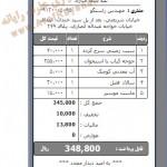 فیش صندوق رستوران همراه با مالیات