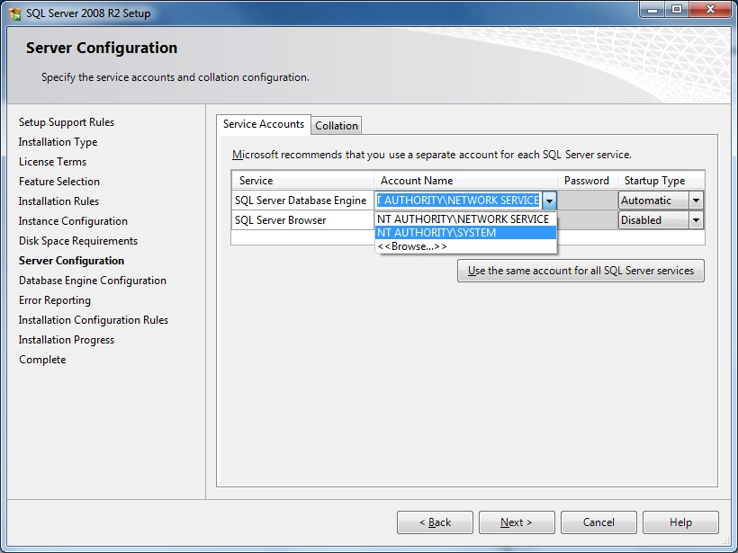 نصب نرم افزار SQL Server 2008 R2
