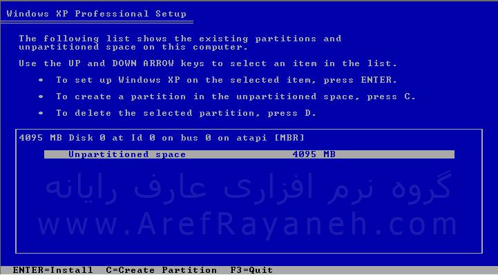 آموزش نصب ویندوز xp بر روی کامپیوتر
