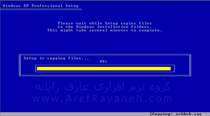 نصب ویندوز و کپی فایل ها در کامپیوتر
