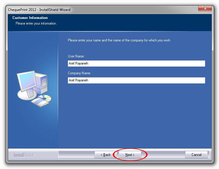 آموزش نصب نرم افزار چاپ روی چک مرحله3