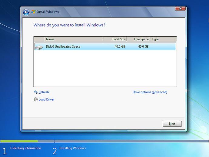 آموزش نصب ویندوز 7 مرحله 7
