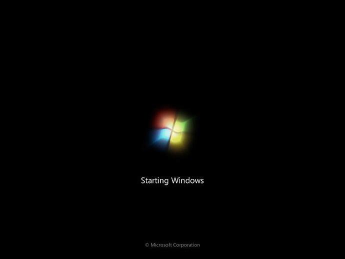 صفحه اولیه ویندوز 7 پس از بوت شدن
