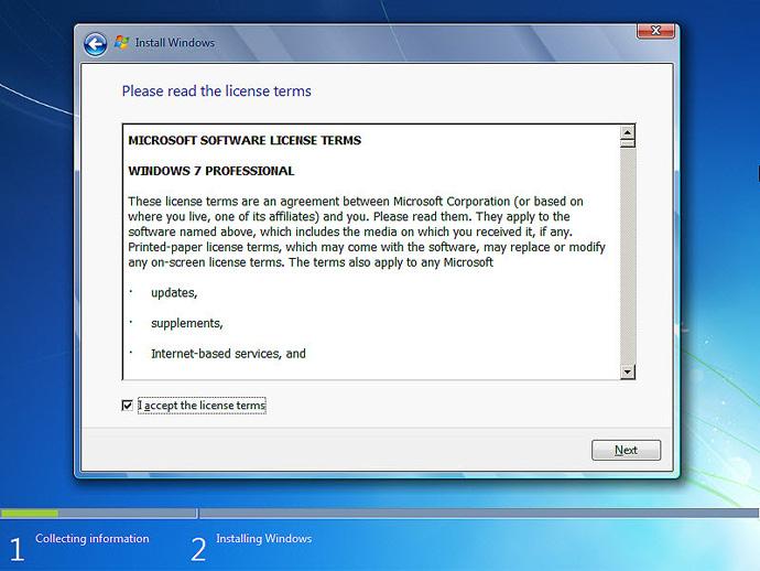 نصب ویندوز 7 مرحله 4