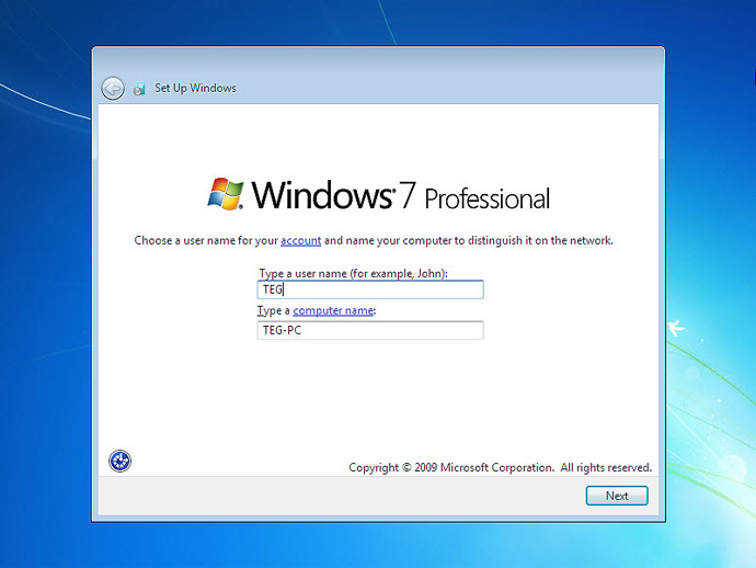 Install Windows 7 On a Computer Step 11