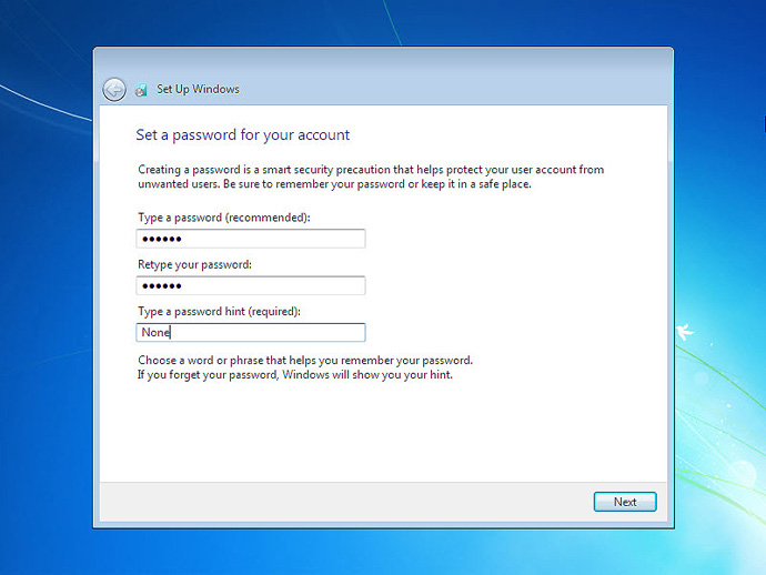 Install Windows 7 On a Computer Step 12