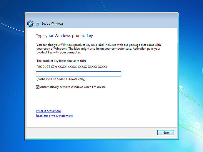 Install Windows 7 On a Computer Step 13